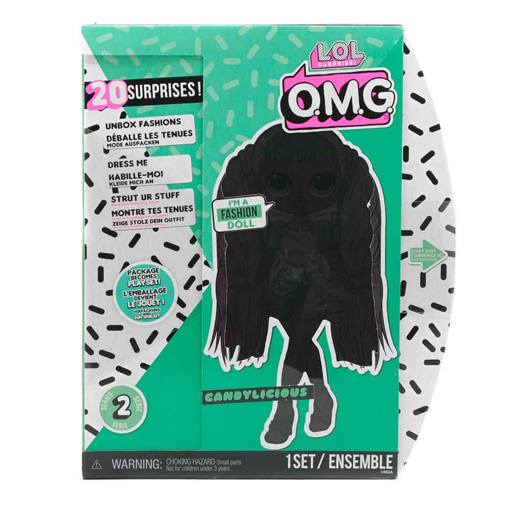 Большая кукла LOL Surprise OMG Candylicious Fashion Doll с 20 сюрпризами - 2